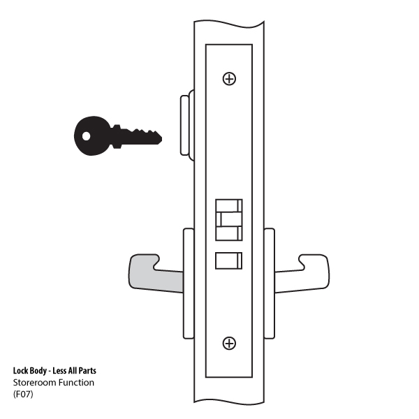 Yale Mortise Lock Parts 8805 Mortise Lock Body Yale
