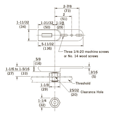 Dorma 8855 Rts88 Series Adjustable End Load Threshold