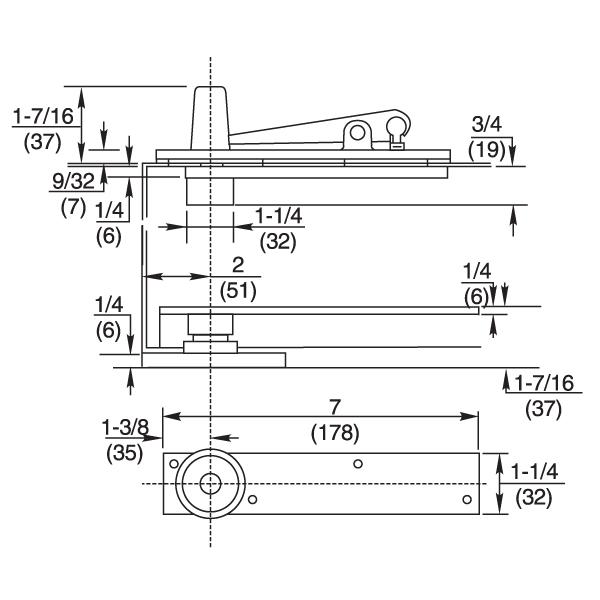 Rixson 370 Center Hung Door Pivot Set Epivots