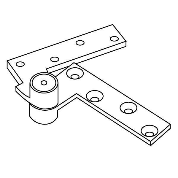 rixson h180 heavy-duty 3  4 u0026quot  offset top pivot