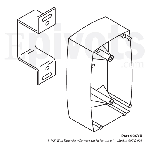 Rixson 996xk 1 1 2 Quot Wall Extension Conversion Kit For 997