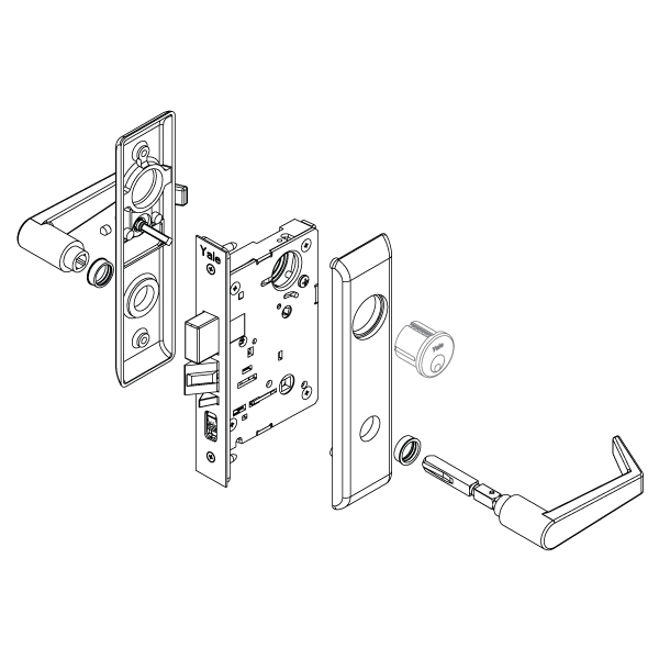 Yale 8802fl Mortise Lockset W  Escutcheon - Privacy  F19