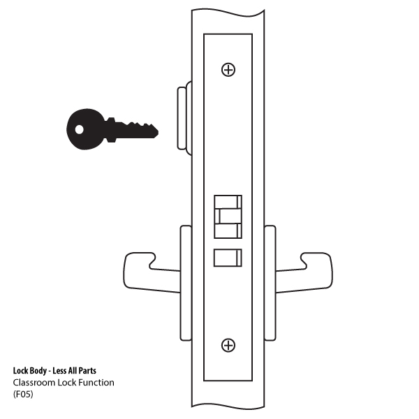 Lbdy8808fl Mortise Lock Body Classroom F05 By Yale