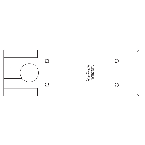 7510 Cover Plate For Bts75v Series Floor Closers By Dorma