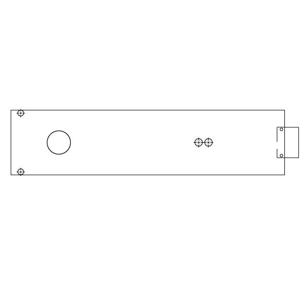 8563 Cover Plate for Aluminum Door Frames by Dorma | Epivots com