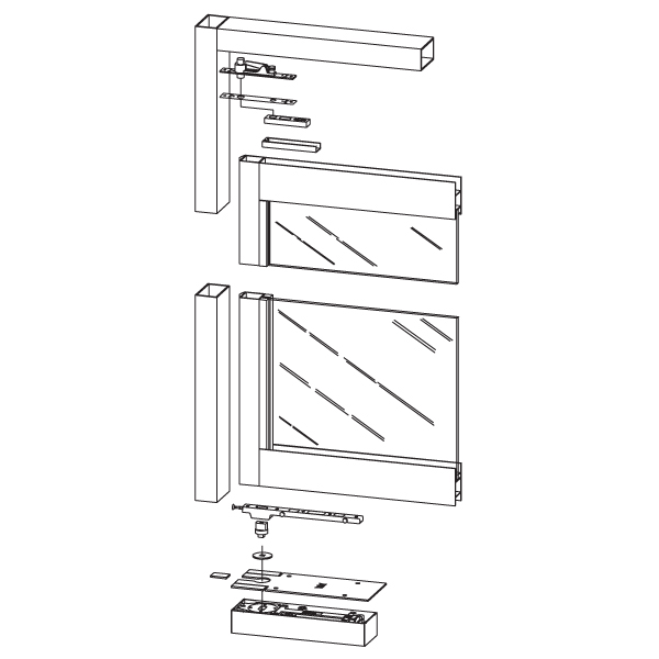 dorma bts75v  a double acting floor closers for aluminum