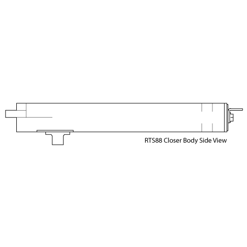 Dorma Rts88 Series Overhead Concealed Closer Body
