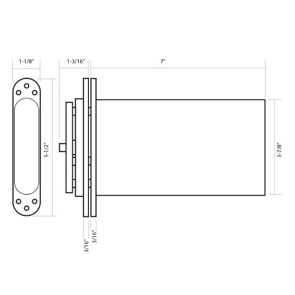 R102 PERKO POWER Concealed Door Closer by Samuel Heath | Epivots com