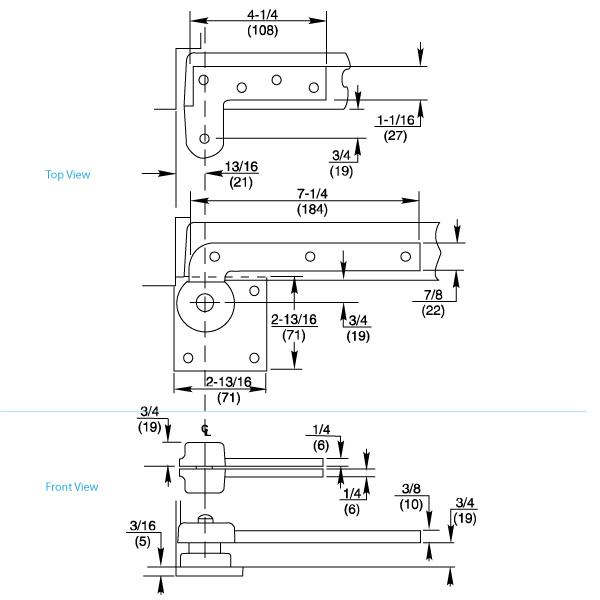Rixson 117 Offset Pivot Dimensions
