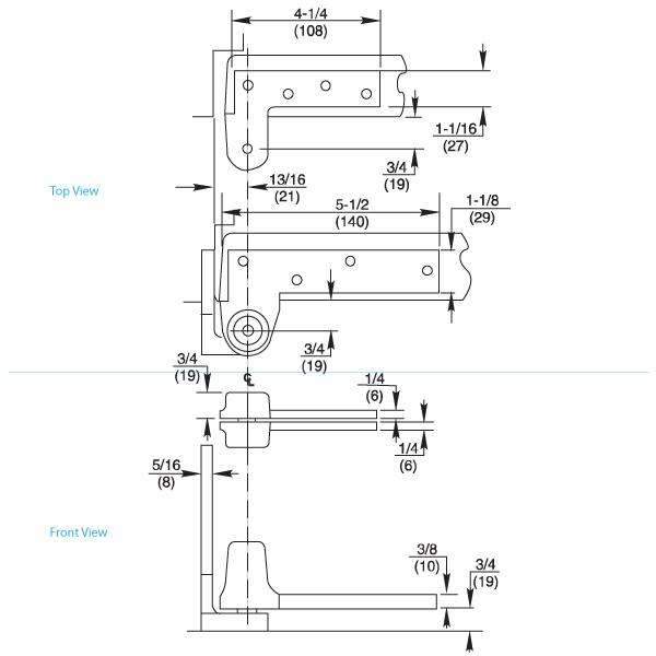 195 Jamb Attached Offset Hung Pivot Set By Rixson Epivots Com