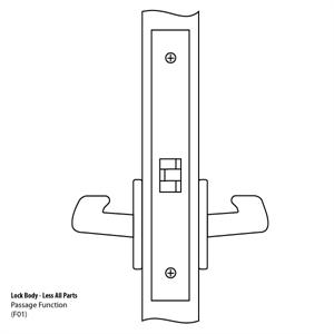 8801 Mortise Lock Body