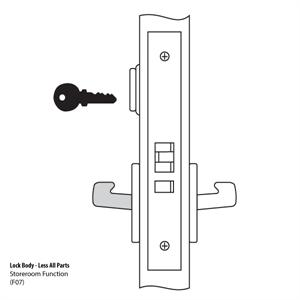 8805 Mortise Lock Body
