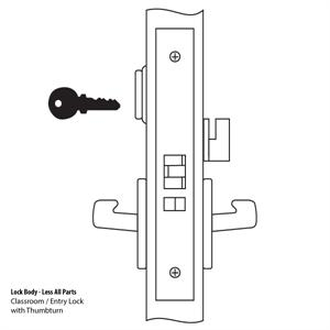 8809 Mortise Lock Body
