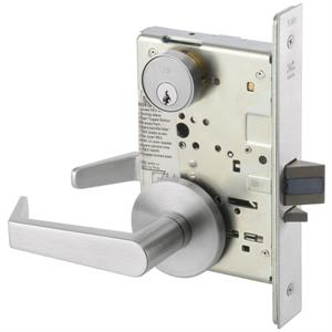 8808FL Mortise Lever Lockset w/Rose Trim - Classroom