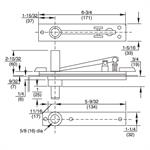H345 Long Pin Heavy Duty Top Pivot Dimensions
